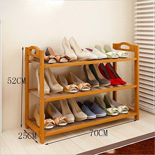 Xiejia Porte-Chaussures Nanzhu Chaussures étagère Simple Montage étagères de Stockage Salon Salle de Finition Cadre (Taille : 70cm)
