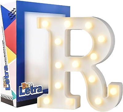 Lettere Luminose Decorative dell'alfabeto A-Z con Luci a LED per Decorazione DIY - R