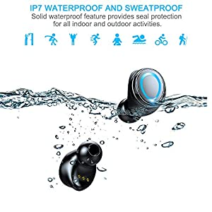Wireless Earbuds, Bluetooth 5.0 Earbuds with 126H Playtime, Bluetooth Headphones HiFi Stereo Noise Cancelling Wireless Earphones in Ear with Mic, USB-C Charging Case, IP7 Waterproof Headset for Sports