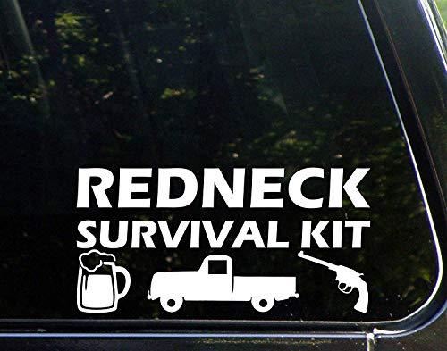 Wandaufkleber Auto Aufkleber Redneck Survival Kit 9 1/4