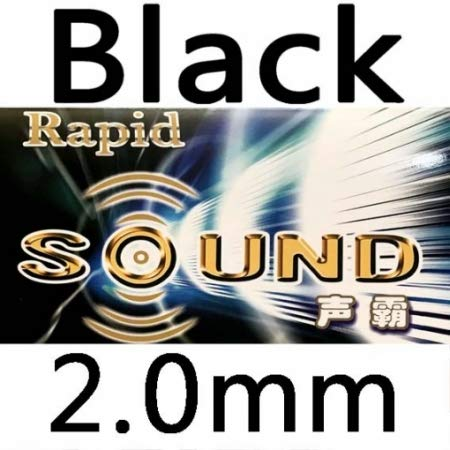 New LKT KTL Rapid Sound (Rapid-Sound) Pips-in Table Tennis (Ping Pong) Rubber with Sponge (Black, 2....