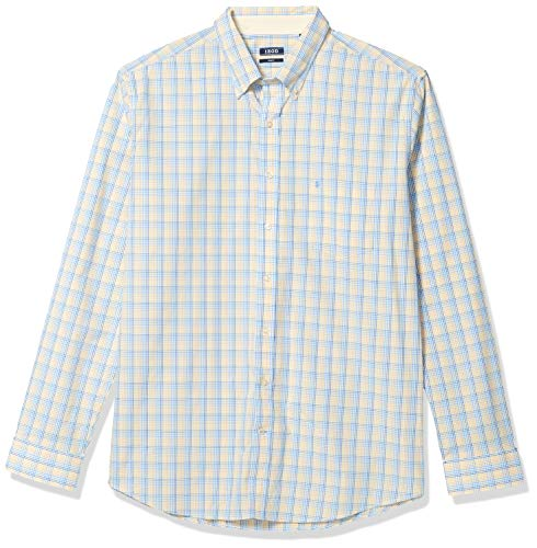 Izod Herren Big and Tall Essential Tattersall Long Sleeve Shirt Hemd, Sundress, XX-Large Hoch Schlank