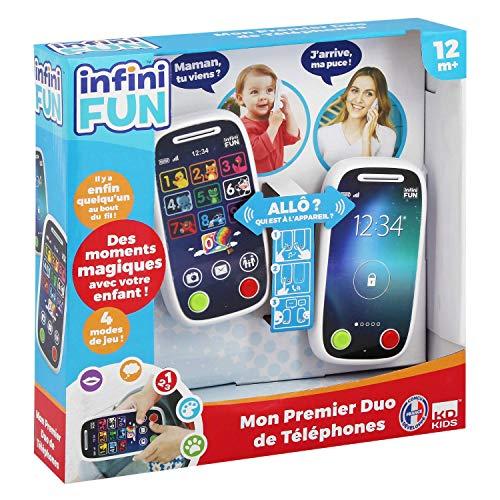 Infini Fun, Mon Premier Duo de Téléphones, jouet d'éveil éducatif, téléphone Bébé, 12 mois