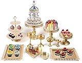 Juego de 12 soportes para tartas de cristal, estilo vintage, para fiestas, bodas, cumpleaños, baby showers