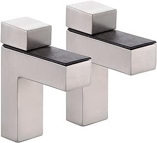 KES HSB301 Solid Metal Adjustable Wood/Glass Shelf Bracket Wall Mount 2 Pcs or One Pair