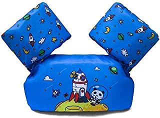 Dark Lightning Baby Floats for Pool,Kids Floaties/Life Jacket from 30 to 50 lbs, Compatible Infant/Baby/Toddler 20-30 pounds boy, Blue, Panda in Mars