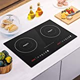 FOGATTI 1800W Induction Cooktop, Countertop Burner, Built-In or Portable, Electric Stove for Cooking, 10 Power Level Settings, 240 Min Timer, Auto Shut-Off, Touch Panel, Digital LED Display