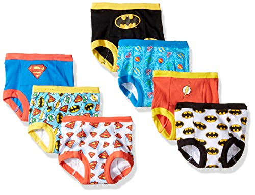 DC Comics Boys Toddler Superman, Batman and More Training Pants, Justice League, 2T, 7-Pack