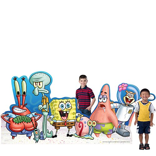 4 ft. 5 in. Spongebob Squarepants & Gang Standee Standup Photo Booth Prop Background Backdrop Party Decoration Decor Scene Setter Cardboard Cutout