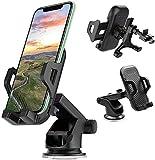 LONGING Supporto Cellulare Auto 3 in 1, Supporto Cellulare Auto 360 Gradi di Rotazione Porta Telefono Auto Universale per iPhone 11 X 8 7 Samsung S9 8 7 Huawei e GPS Smartphone Supporto Auto