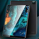 phlkx 2021 Nuevo Tablet PC Laptop 12 Pulgadas Tableta con Tres Cámaras Negro