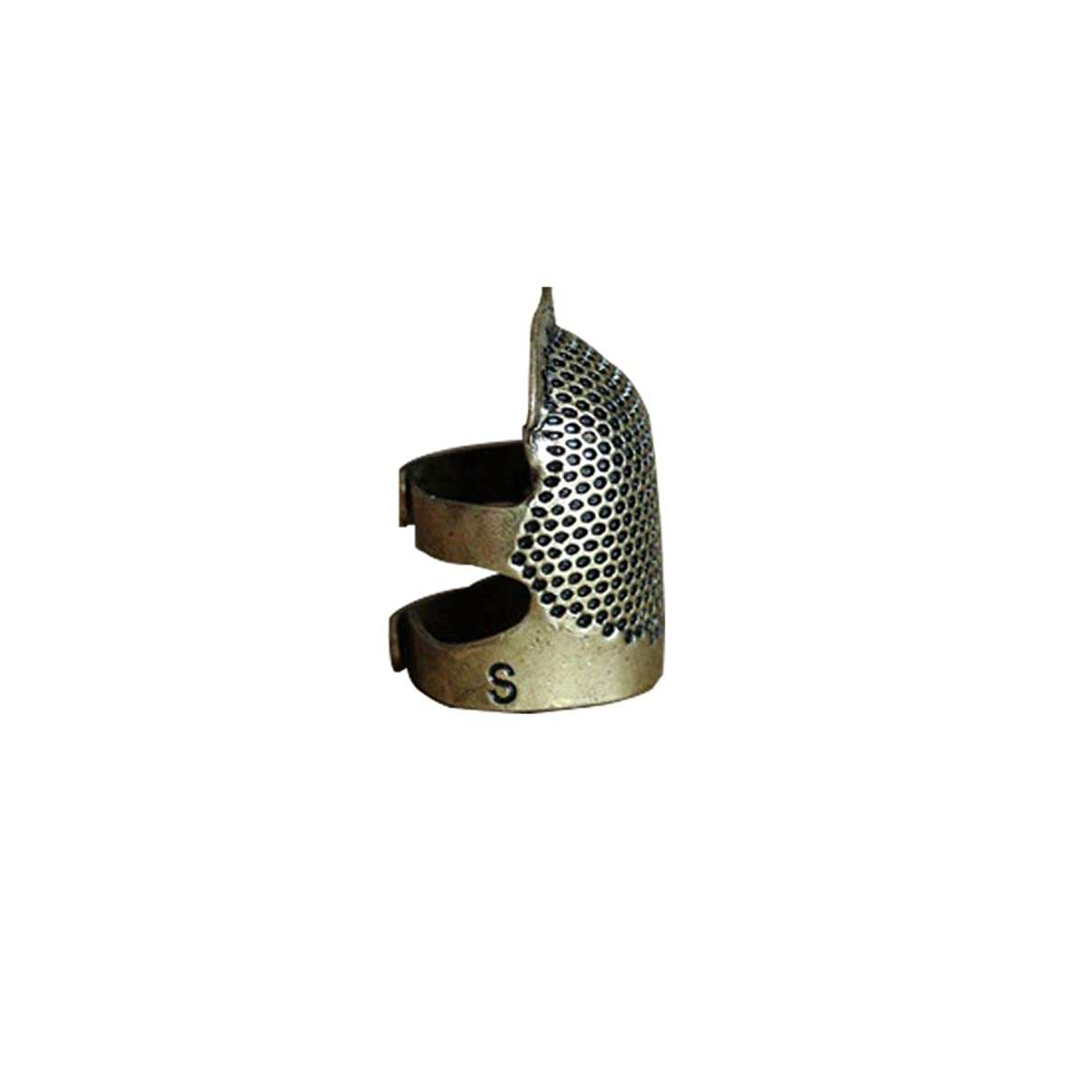LGEGE Antique Bronze Toned Vintage DIY Crafts Metal Sewing Thimble Finger Thimble Protector Shield, Helmet Shape Thimble Protector, Size S, 1 Pcs hi69384420370