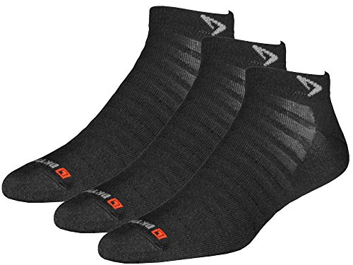 Drymax Socks Run Hyper Thin Mini Crew - Black W7.5-9.5, M6-8 - 3 Pack