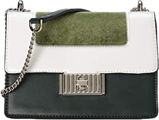 CHRISBELLA Women's Soft PU Leather Tote Shoulder Bag with Adjustable Chain, Stitching Color Handbag