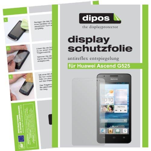dipos I 2X Schutzfolie matt kompatibel mit Huawei Ascend G525 Folie Bildschirmschutzfolie