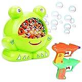 Máquina de Burbujas,Liuer Pompas de Jabón Automáticamente Bubble Maker Soplador de Pompas de Jabón para Niños Fiestas Cumpleaños Bodas con 2 Pistolas de Agua(Excluyendo Batería y Líquido de Burbujas)