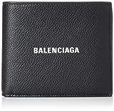 [バレンシアガ] 2つ折り財布 CASH キャッシュ ロゴ 本革 BLACK/L WHITE [並行輸入品]