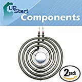 2-Pack Surface Burner 6 inch 4 Turns Element Replacement for Jenn-Air, Amana, Maytag, Whirlpool - Compatible with Maytag DG412, Jenn-Air JED8130ADB, Jenn-Air JEA7000ADS, Jenn-Air JED8130ADW