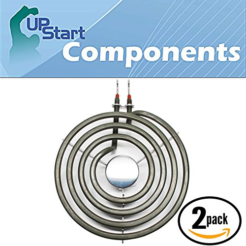 2-Pack Replacement for Amana AER3311WAW1 6 inch 4 Turns Surface Burner Element - Compatible with Amana 660532 Heating Element for Range Stove & Cooktop
