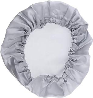 Lovoski Silk Bonnet Cap Night Sleep Hair Head Cover Wide Band Adjustable Elastic Hat
