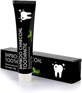 Bamboo Activated Charcoal Black Whitening Natural Stains Remover Toothpaste 3.7 Oz