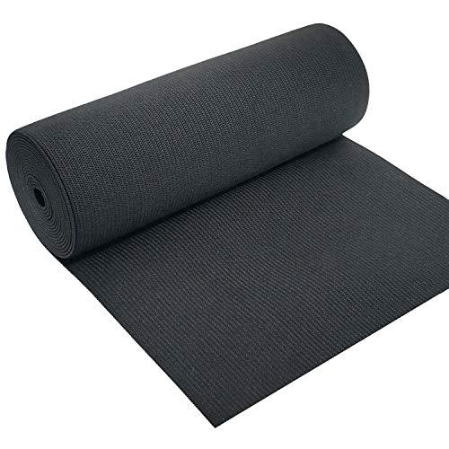 8 Inch Wide Black Heavy Stretch High Elasticity Knit Elastic Band 1 Yard