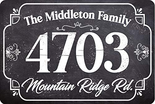 Personalized Metal Address Plaque-Rectangular Durable Metal Sign - 12' x 8' or 18' x 12' Display Address and Street Name - Custom Wall Mounted-Great Housewarming & Decor Gift Under $25