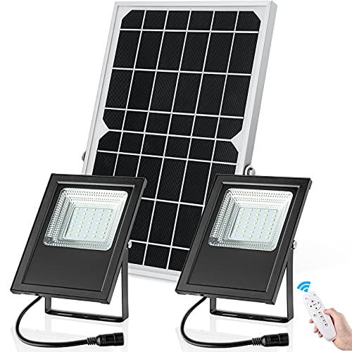 Solar Flood Lights Outdoor/Indoor Dusk to Dawn Dual Color Switchable SunBonar 120LED IP67 Waterproof Solar Security Light