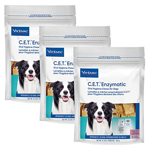 C.E.T. Enzymatic Oral Chew Dog 26-50lbs 30ct (3 Pack), Model Number: 90605-3