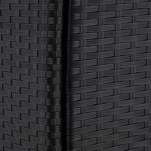 TecTake 800325 - Poly Rattan Sitzgruppe, 6 Stühle mit Sitzkissen, 1 Tisch mit 2 Glasplatten, inkl. Schutzhülle - Diverse Farben - (Schwarz | Nr. 402058) - 8