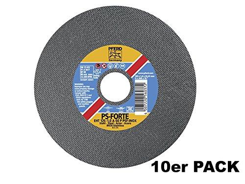 10x PFERD INOX Trennscheiben für Stahl & Edelstahl 125 x 1.0mm | Made in Germany