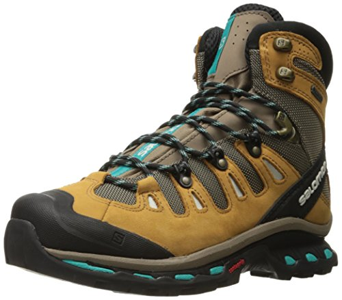 SALOMON Women's Quest 4d 2 GTX W Hiking Boots, Beige (Shrew/Camel Gold LTR/Teal Blue F), 5.5 UK