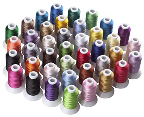 Review Of CR INDUSTRY 40 Assorted Colors Polyester Embroidery Machine Thread Set for Janome Brother ...
