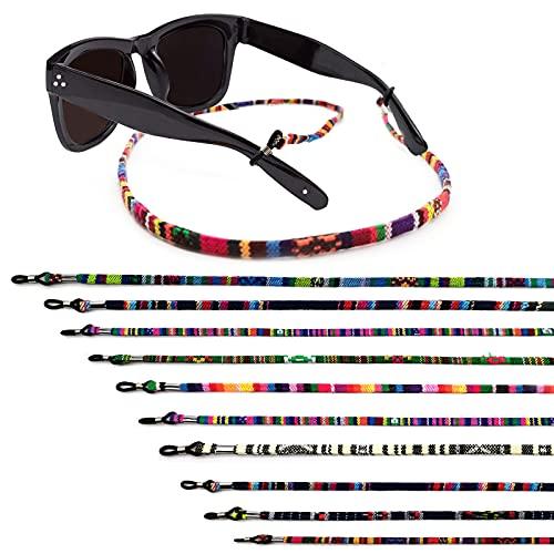 10 Pieces Glasses Strap, Llamaababie Multicolored Sunglasses Strap Chain, Cotton Eyeglass Holder...