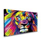 80 x 60 cm Cuadro en Lienzo el león 4001-SCT – Imagen/Impresion/Pintura Listo para...