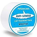 Petslucent Cinta Adhesiva disuasiva antiarañazos del Gato, Cinta Protectora de los Muebles del Gato Anti-rasguño, Guardias de Doble Cara para la Alfombra, sofá, sofá, Puerta (Azul 7.5cm x 13.7m)