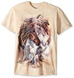 The Mountain mens The Journey the Reward T Shirt, Tan, Large US