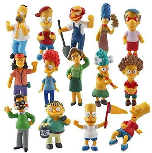 Simpson Cake Topper Figures Toy Set of 14-Party Supplies Birthday Cartoon Figure Decoration