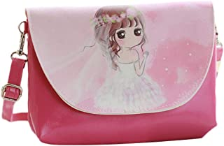 COODIO Children Girl Fashion Cartoon Pattern Wallet Mini Satchel Portable Bag Single-shoulder Bag for Fashion Jewelry