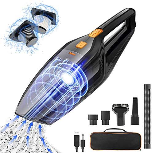 KJDSW 8000pa 120W Potente aspiradora ciclónica para Coche, Recargable, portátil, rápida, aspiradora de Mano, Limpiador