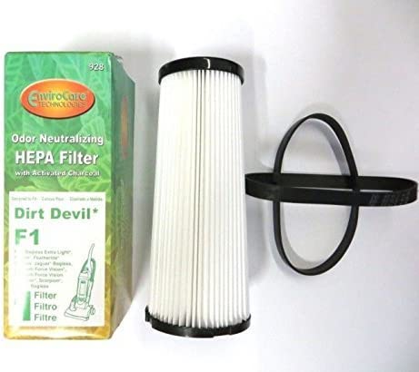 Designed to fit Dirt Devil Type F replaces part # 330048001 3 bags 1 filter