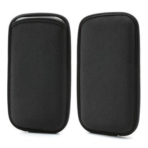 DFVmobile - Wasserabweisende Tasche Neopren aus Flexiblem Dehnbaren Weichen Exklusiv & Premium für HAIER Ginger G7 - Schwarz