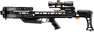 Mission Crossbow SUB-1 XR   Hunting Pro Kit   Black   with Hawke Scope, Quiver, Cocking Rope, 3 Arrows, Soft Case, String Wax Package