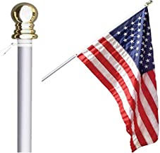 Grace Alley Flag Pole: 6 Foot Tangle Free Spinning Flag Pole. Residential or Commercial Flag Pole. Wind Resistant/Rust Fre...