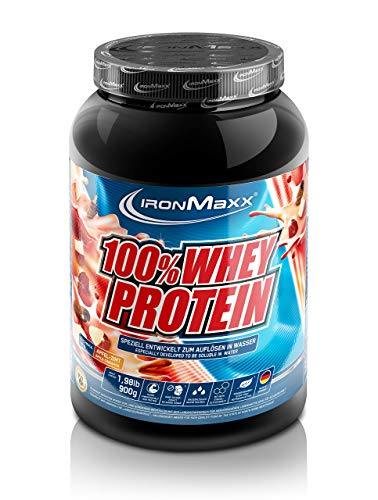 IronMaxx 100% Whey Protein – Proteinpulver auf Wasserbasis – hochwertiges Eiweißpulver für Proteinshake in 36 leckeren Geschmäckern – Apfel-Zimt Geschmack – 1 x 900 g Dose