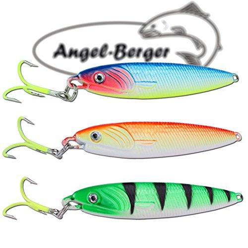 Angel-Berger Pilker Set Meerespilker Verschiedene Gewichte (100g)