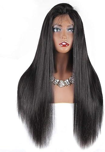 HUANGDONGL Perücke, jungfr iche Haare, Perücke, Perücke ohne Kopf, natürliche Haarperücke, brasilianische Weißiche Perücke und Babyhaare,10Zoll