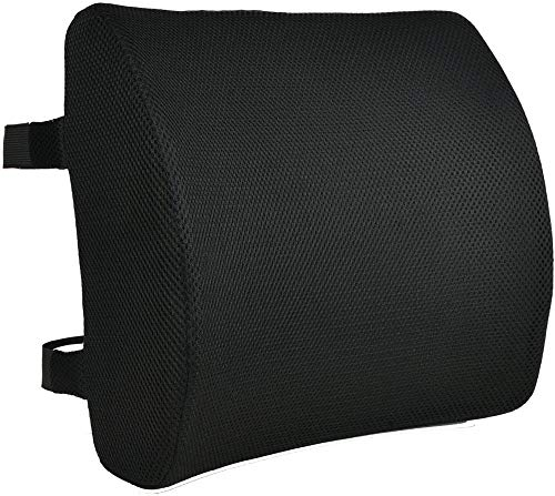 Boweike The backrest of the chair cushion with adjustable mesh straps is suitable for office seats, car seats, etc. to relieve back pressure