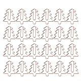 Toyvian 24 piezas clip de papel con forma de árbol de navidad oro rosa clips de papel prácticos papelería de estudiante para oficina escolar