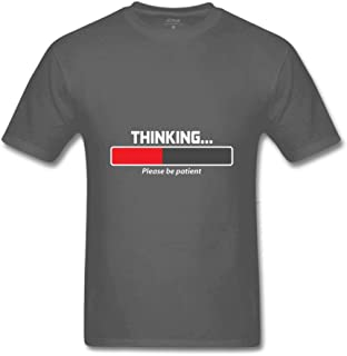 Zidea Thinking Please BE Patient Men's Funny T Shirt